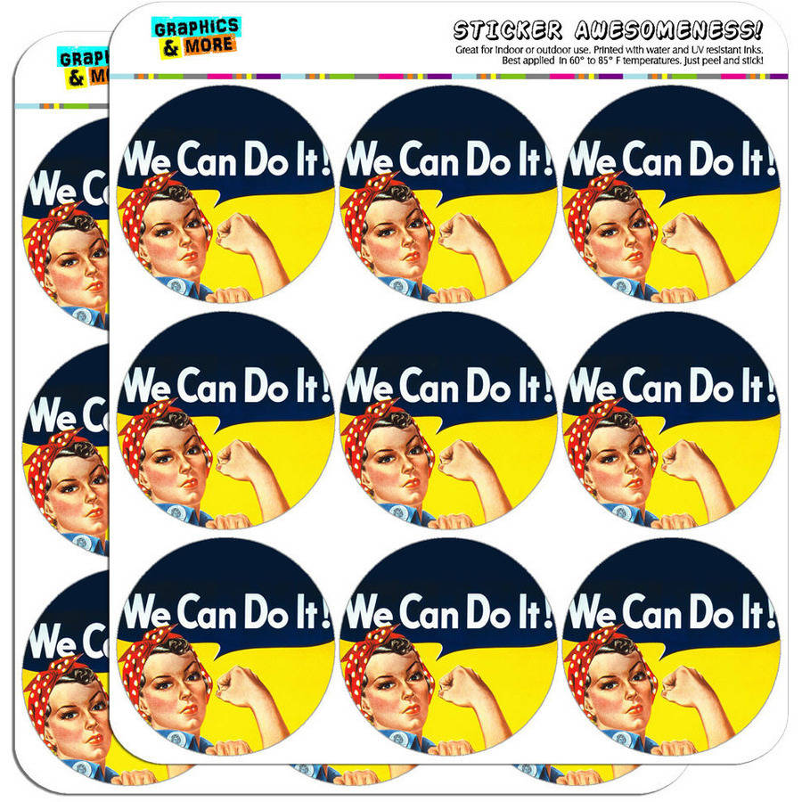 "Rosie The Riveter War Poster 18 2"" Planner Calendar Scrapbooking Crafting Stickers"