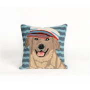 TransOceanImports 7FP8S157409 Frontporch Salty Dog Golden Square Pillow