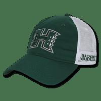 NCAA Hawaii University Rainbow Warriors Relaxed Mesh Caps Hats Hunter White