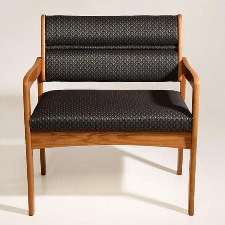 Bariatric Office Guest Chair - Wooden Mallet DWBA3-1 Solid Oak Standard Leg Bariatric Guest Chair