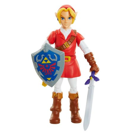 World of Nintendo Legend of Zelda Ocarina of Time Link (Goron Tunic) Action