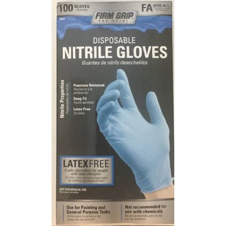 Firm Grip Nitrile Gloves, 100ct