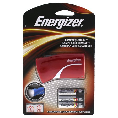 Compact LED Light Red by Energizer for Unisex - 1 Pc Flashlight