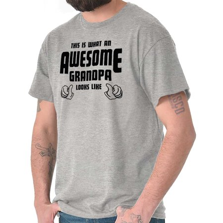 Brisco Brands Awesome Grandpa Fathers Day Dad Mens Short Sleeve T-Shirt Dad Short Sleeve Tee