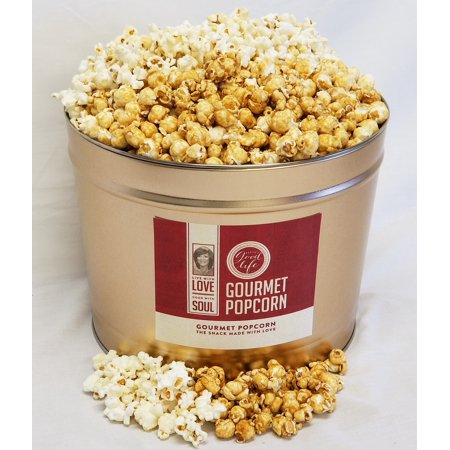 Patti LaBelle Sweet Treat Gourmet Popcorn Tin- Butter Toffee/Kettle 2 Gal