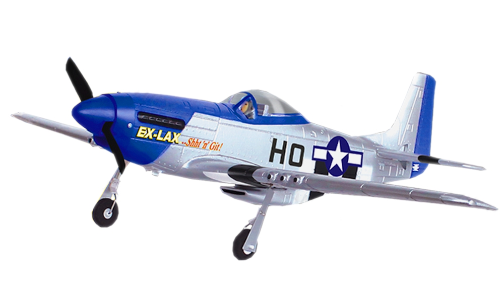 "POCO DIVO Mustang P51D Warbird 2.4Ghz 4CH 29.5"" WingSpan RC Airplane RTF US WWII Dogfight P-51D Brushed... by"
