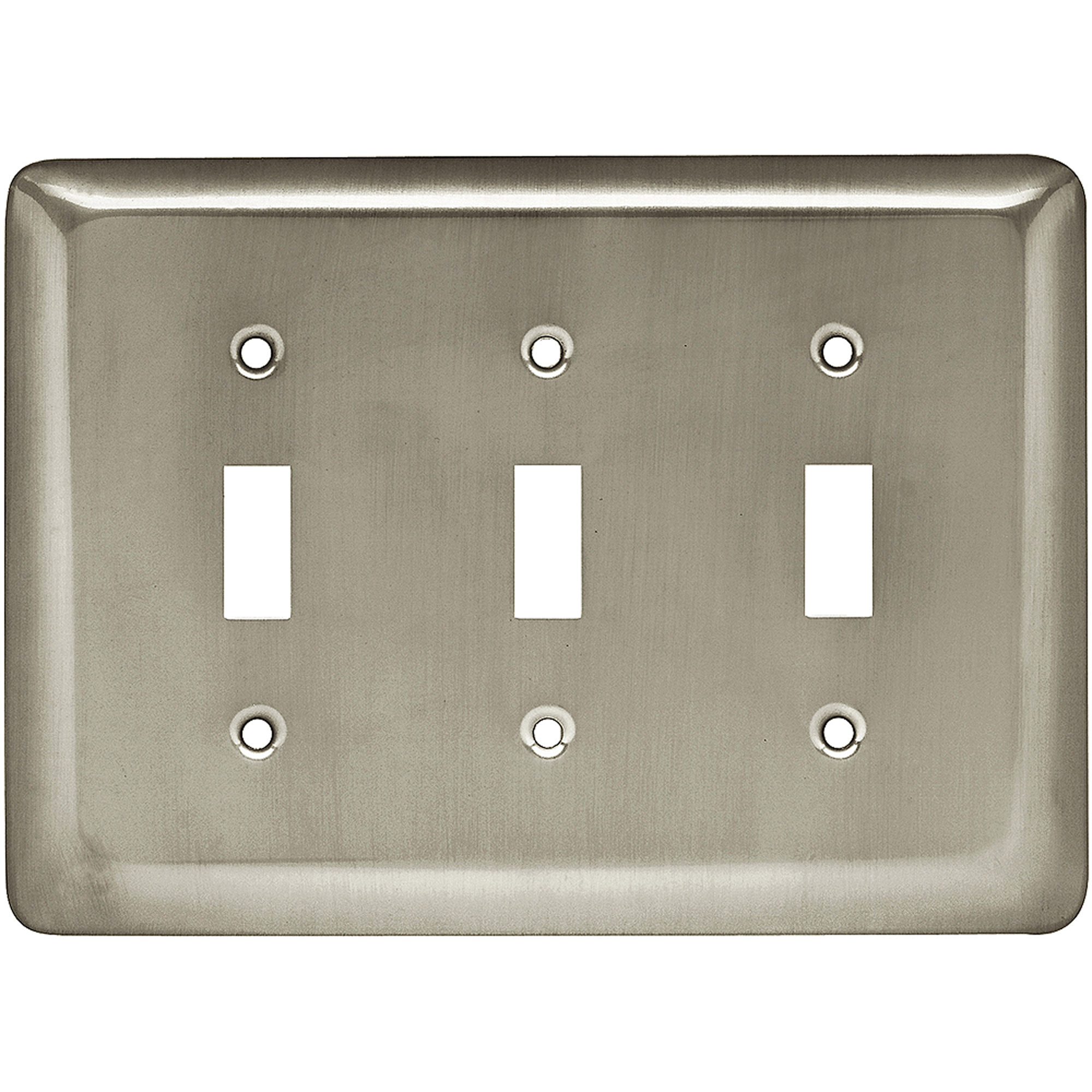 Brainerd Rounded Corner Triple Switch Wall Plate, Available in Multiple Colors