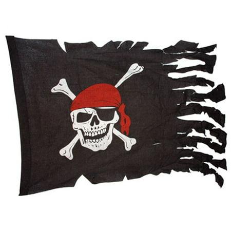 - Jolly Roger Tattered Pirate Ship Battle Flag Skull and Crossbones Halloween Prop
