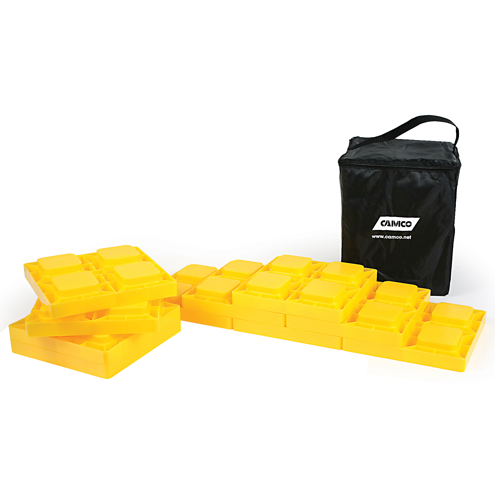 Camco Heavy Duty Leveling Blocks, Ideal Leveling Single Dual Wheels, Hydraulic Jacks, Tongue Jacks Tandem Axles (10 pack) (44505)