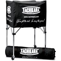 Tachikara Steel-Frame Volleyball Cart, Black Cover with Carry Bag