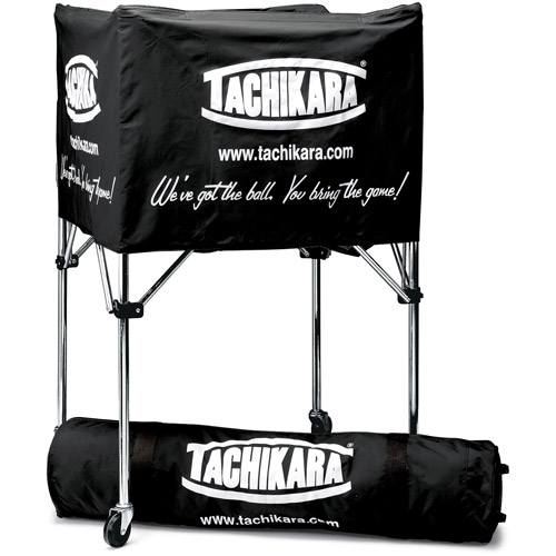TTachikara Steel-Frame Volleyball Cart, Black Cover with Carry Bag