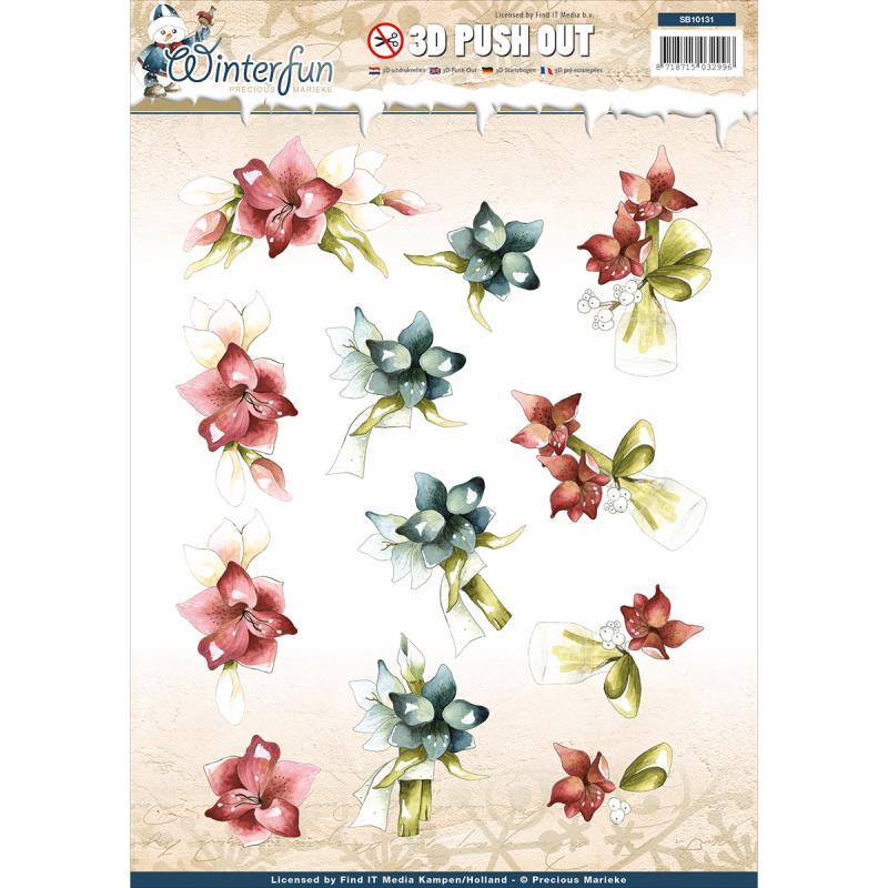 Find It Trading Precious Marieke Punchout Sheet-winterfun Winter Flower