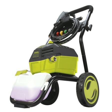 Sun Joe SPX4600 High Performance Induction Motor Electric Pressure Washer | 3000 PSI Max | 1.3 GPM | Roll Cage 3000 Psi Nitrogen System