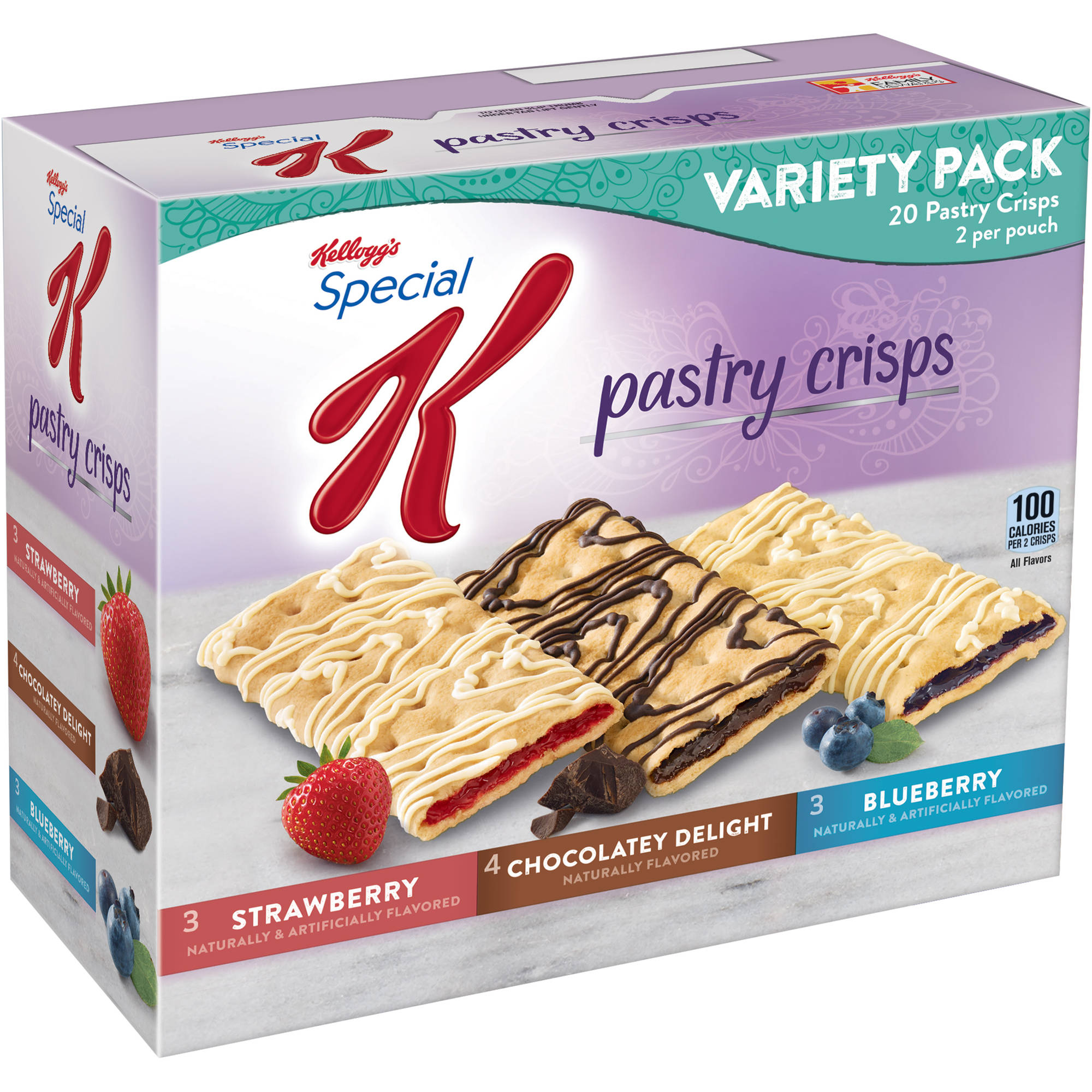 Kellogg's Special K Pastry Crisps Variety Pack, 0.88 oz, 10 count