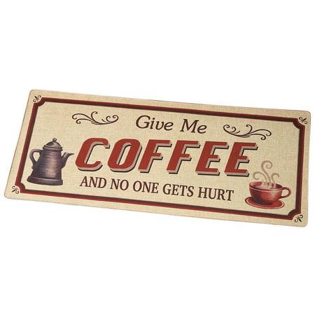 - Give Me Coffee Novelty Rug