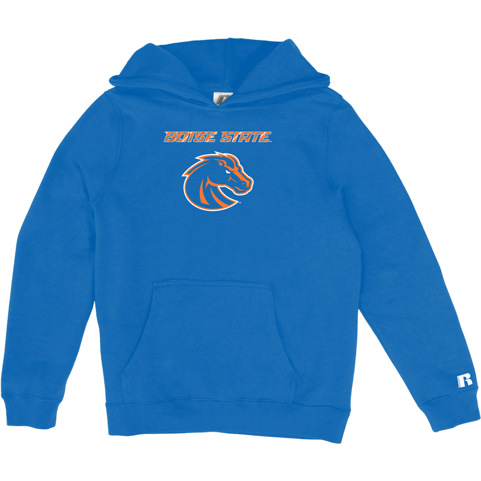 Russell NCAA Boise State Broncos, Girls Pullover Hood with Pocket