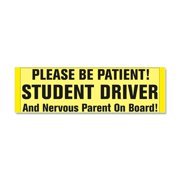 CafePress - Student Driver And Nervous Paren - Car Magnet 10 x 3