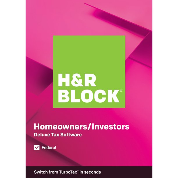 Refurbished H&R Block Tax Software Deluxe 2019 (PC