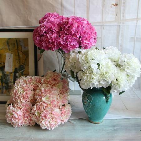 artificial silk flower hydrangea bridal floral bouquet party wedding home decor. Black Bedroom Furniture Sets. Home Design Ideas