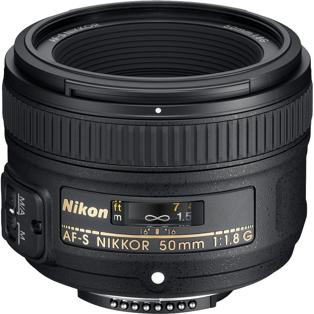 Nikon 50mm f/1.8G AF-S Nikkor Lens - Factory Refurbished includes Full 1 Year Warranty