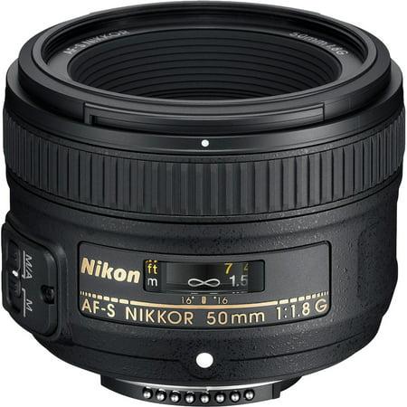 Nikon 50mm f/1.8G AF-S Nikkor Lens - Factory Refurbished includes Full 1 Year Warranty