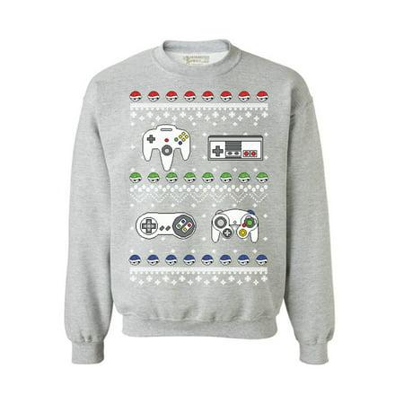 Awkward Styles Gamer Christmas Sweatshirt Christmas Gaming Gifts for Men Women