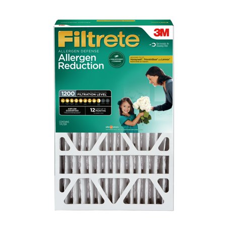 Filtrete 16x25x4, Allergen Reduction Deep Pleat HVAC Air and Furnace Filter, 1200 MPR, 1 (Filtrete 1200 Odor Reduction Air And Furnace Filter)