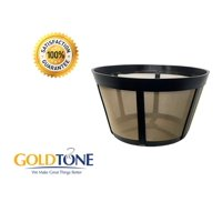 GoldTone Reusable 10 Cup Coffee Basket for BUNN Machines and Makers - Replacement Permanent Bunn Filter - BPA Free - 1 Pack