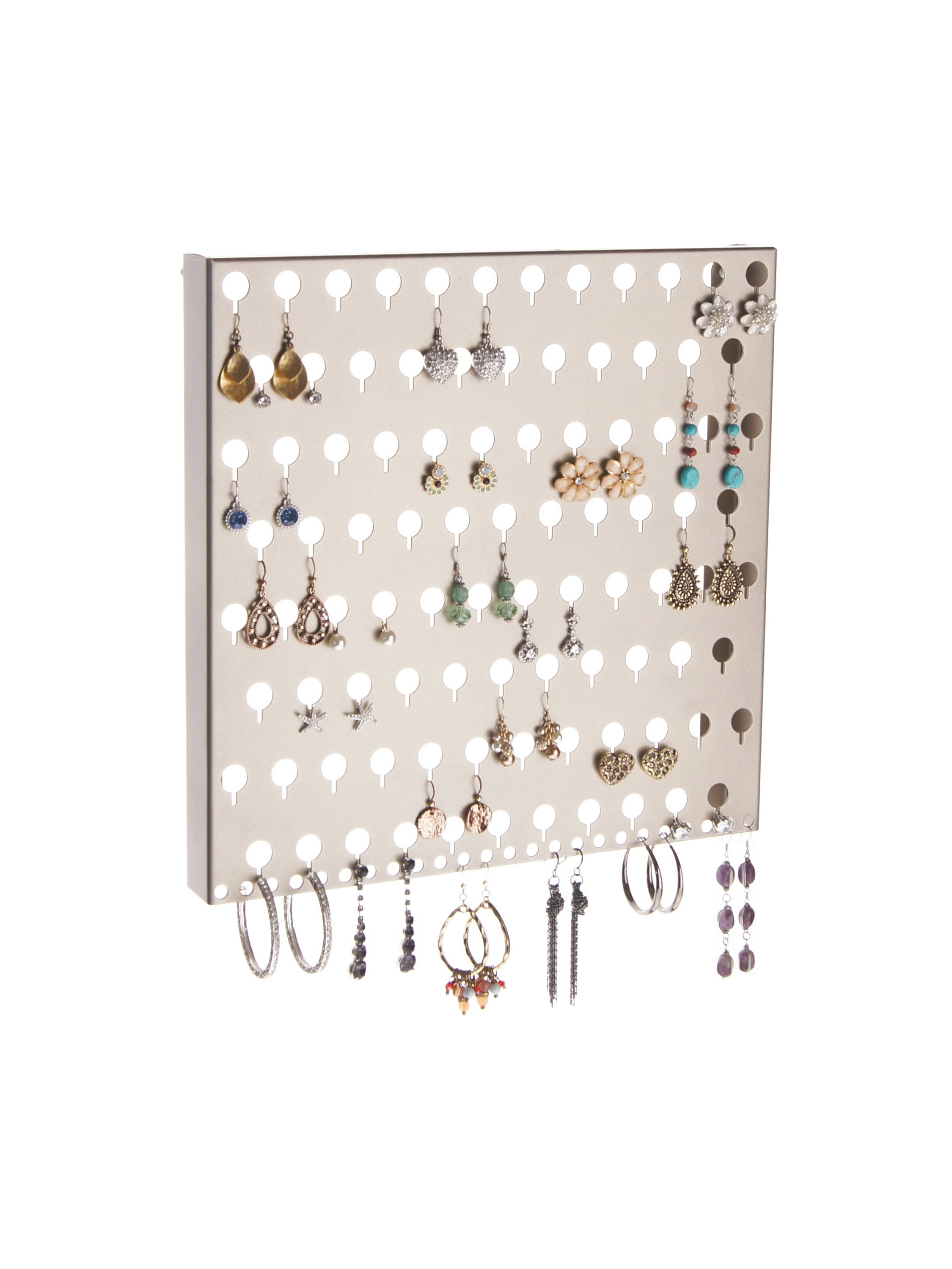 Wall Mount Earring Holder Jewelry Organizer Rack Closet Storage