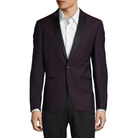 Two-Tone Wool Suit Jacket