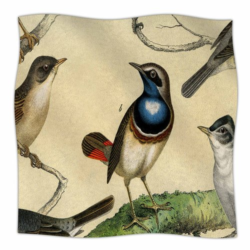 East Urban Home Vintage Birds by Suzanne Carter Fleece Bl...