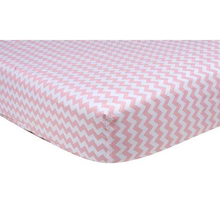 Product of Trend Lab Crib Sheet, Pink Sky Chevron - Sheets [Bulk - Pink Sayings