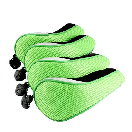 4PCS Thick Neoprene Hybrid Golf Club Head Cover Headcovers green
