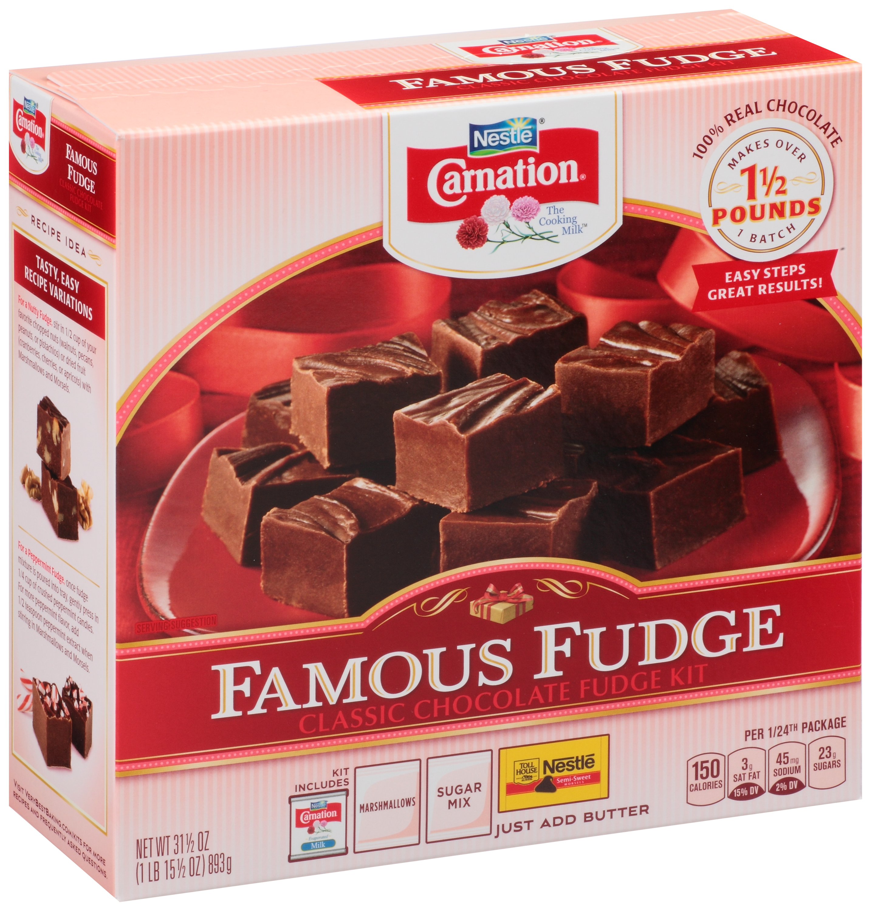 CARNATION Famous Fudge Classic Chocolate Fudge Kit 31.5 oz. Box