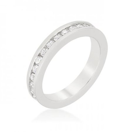 Channel Set Eternity Band, Size 10 - image 1 of 1