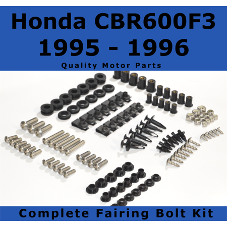 Complete Fairing Bolt Kit for Honda CBR600F3 1995 - 1996 body screws fasteners ()