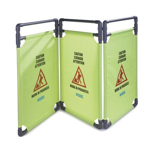 Carlisle Food Service Products 3 Panel Caution Barrier