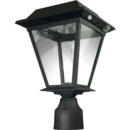 "XEPA Stay On Whole Night 300 Lumen 3"" Fitter Mount Outdoor Black Solar LED Lamp"