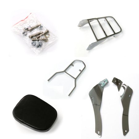 Jeobest Backrest Sissy Luggage Rack Part For 98-11 Yamaha V-Star 400 650