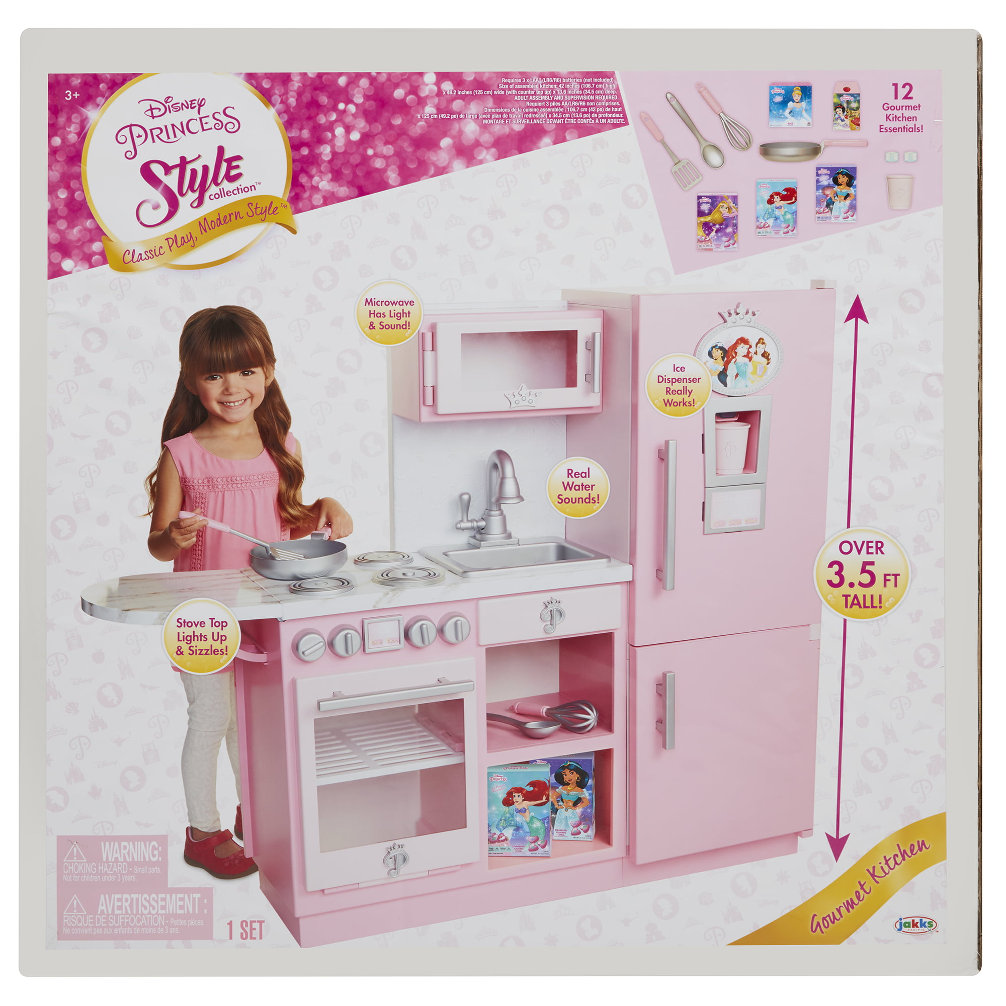 Disney Princess Style Collection Gourmet Play Kitchen Walmart Com Walmart Com