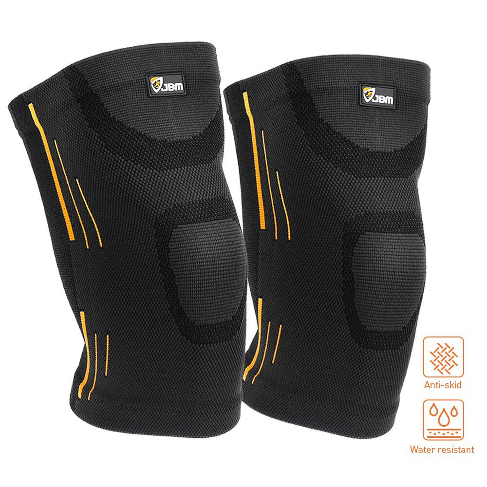 Qf Knee Compression Sleeve 1 Pair Knee Support Brace For Women Men Patella Knee Brace Support Sleeve For Running Football Basketball Weightlifting Powerlifting Gym Workout Sports S Black Walmart Com Walmart Com