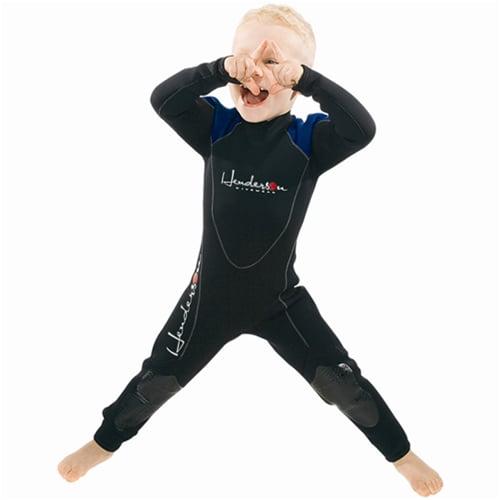 Henderson Childrens 3mm Thermoprene Fullsuit (Black / Blue, 4)