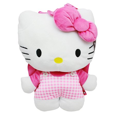 Hello Kitty Checker Plush Backpack #67951