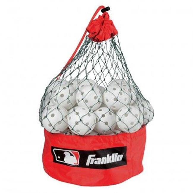 Franklin Sports 24828 MLB 9 inch Indestruct-A-Ball Bucket-24 Count