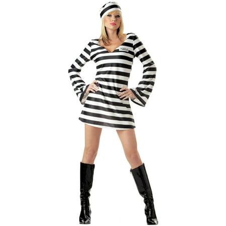 Convict Chick Adult Costume - Convict Costume