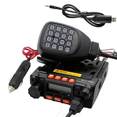 TALKCOOP KT-8900 25/20W UHF VHF Mobile radio 136-174/400-480MHz Mini Car Radio Amateur (Ham) Radio+ Free Programming Cable and