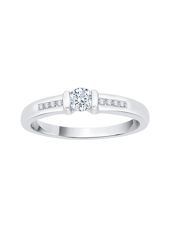 G-H,I2-I3 Diamond Wedding Band in 10K White Gold 1//8 cttw, Size-4.75