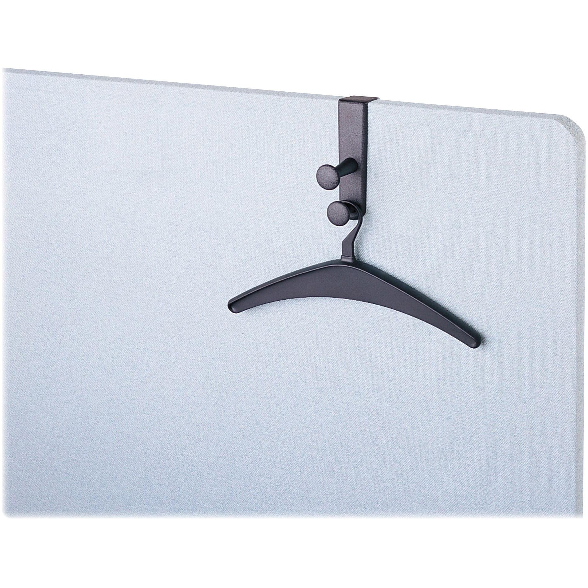 Quartet, QRT20702, Double Post Panel Garment Hook, 1 Each, Black