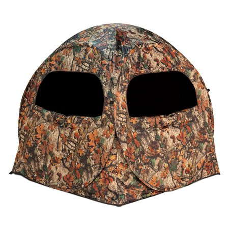 Camouflage Leaf Blind (Barronett Blinds Terminator Waylay Camo Portable 2 Person Hunting Ground Blind )