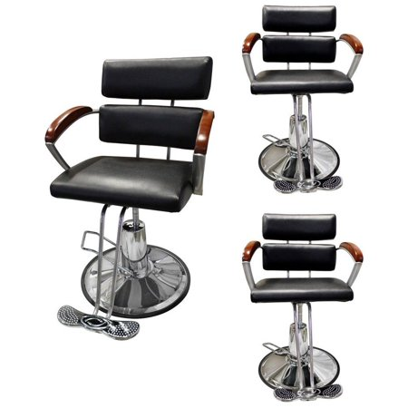 TMS 3PC Hydraulic Adjustable Barber Chair Hair Styling Salon Beauty Spa Equipment